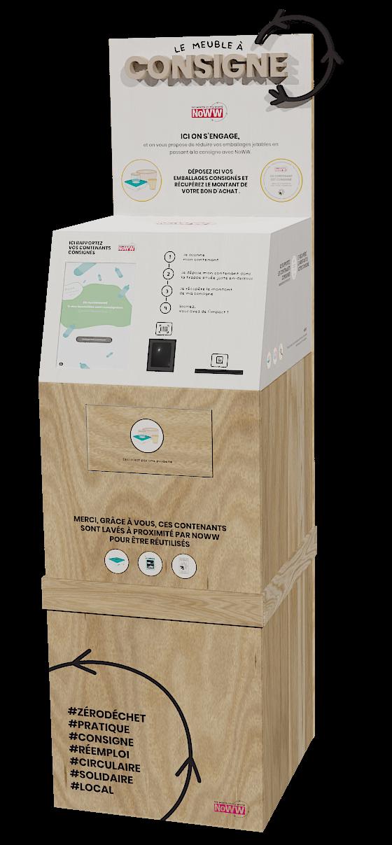 Meuble à consigne, NoWW gestion d'emballages consignés et réutilisables